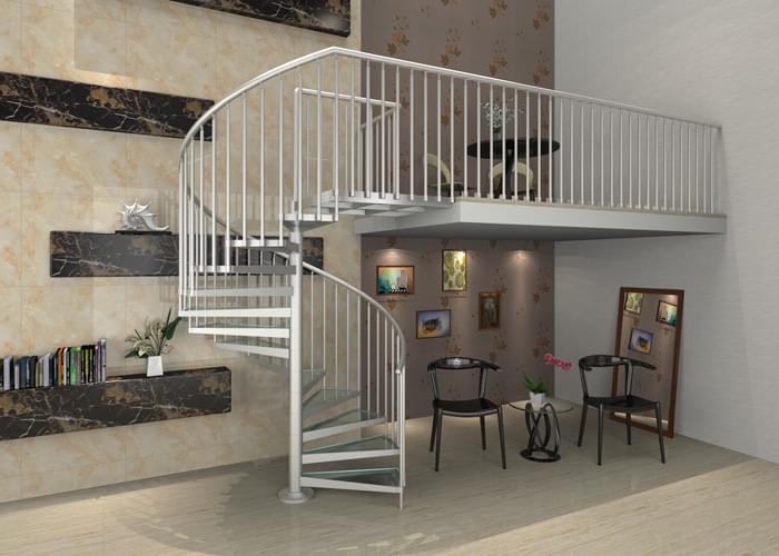 室内铝合金旋转楼梯楼梯案例