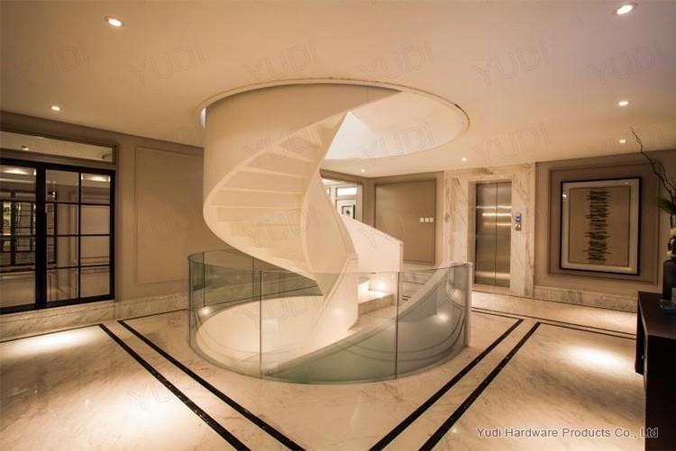 时尚大气碳钢旋转楼梯 御迪钢结构楼梯案例