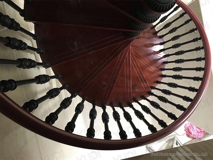 御迪铝合金旋转楼梯案例