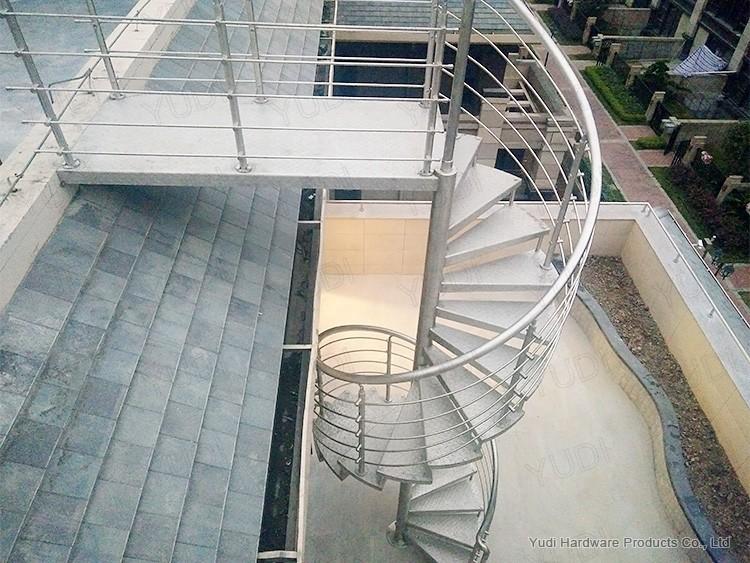 御迪不锈钢旋转楼梯案例