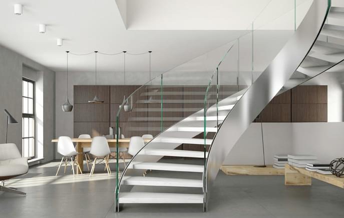 双钢卷板弧形楼梯 弧形楼梯YD-HT20