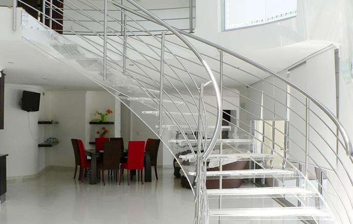 广东御迪弧形楼梯 专业弧形楼梯生产定制