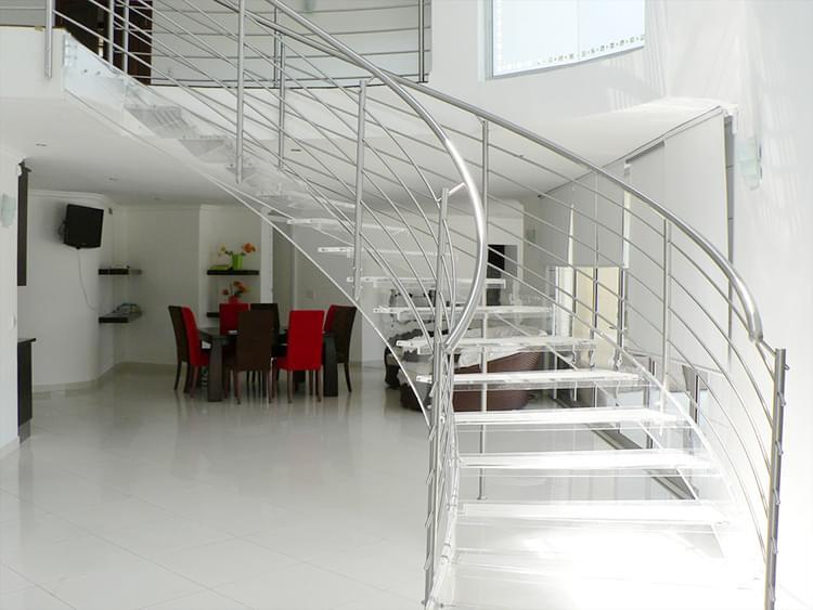 室内弧形梯 旋转楼梯