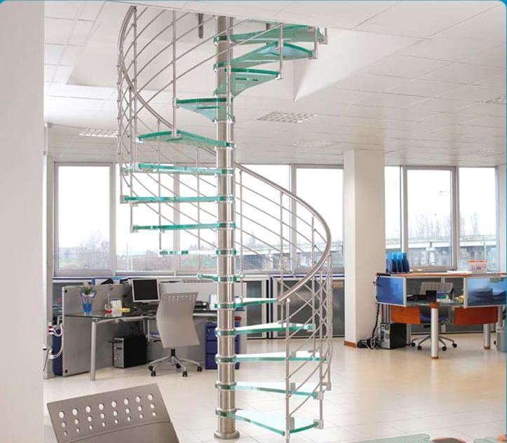 室内旋转楼梯,玻璃旋转楼梯  品牌:御迪 造型:旋转式 类型:无水泥基