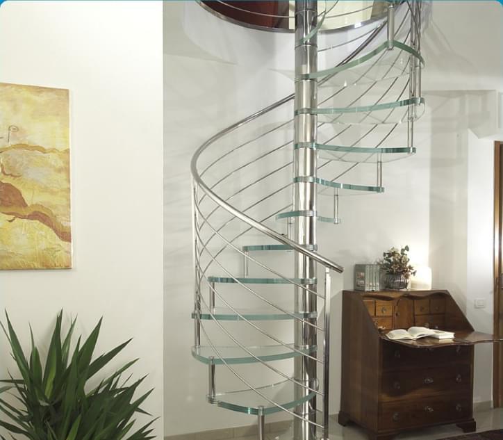 室内旋转楼梯,玻璃旋转楼梯
