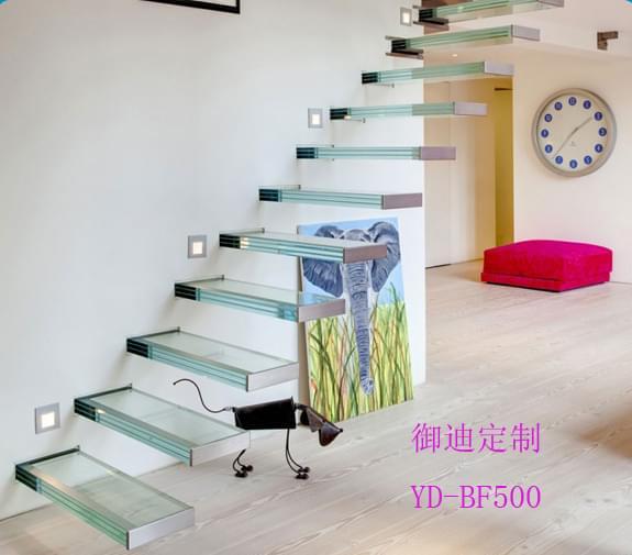 玻璃悬浮楼梯 YD-BF500
