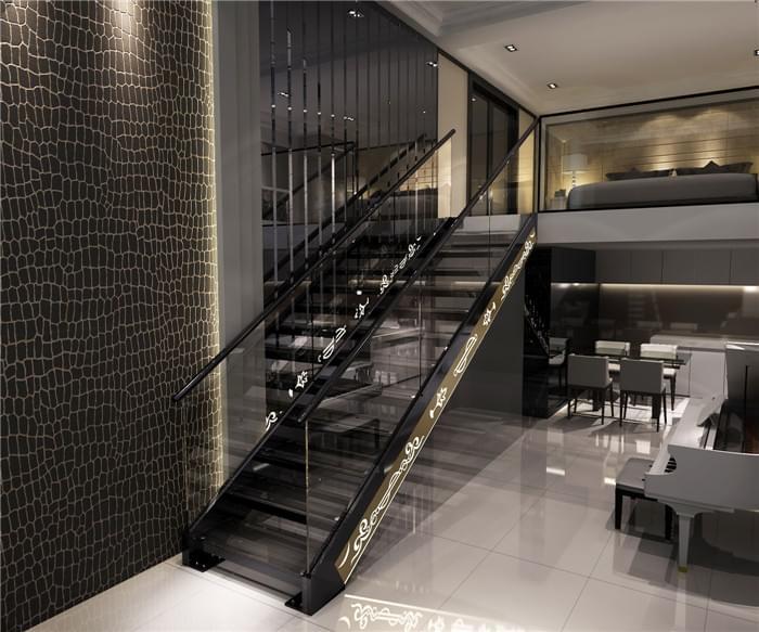 铝合金直梁楼梯,YD-LHJ001