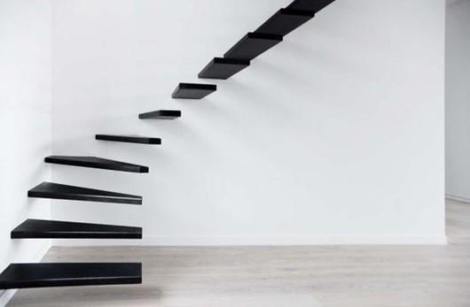 黑色玻璃悬浮楼梯,YD-BF501