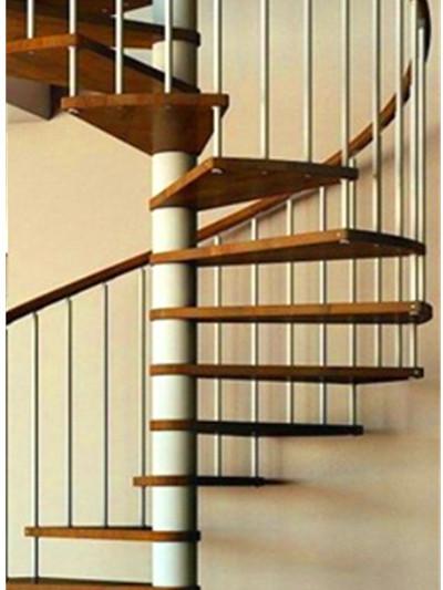 扶手旋转楼梯   钢材:不锈钢304/ 316,铝 图纸:可提供 踏板:木质,玻璃