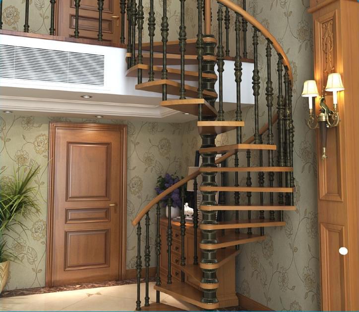 铝合金旋转楼梯,YD-LHJX003