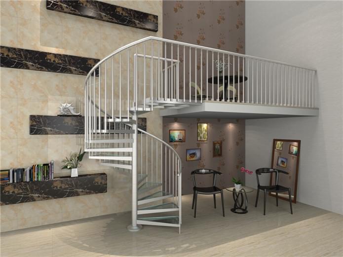铝合金楼梯,铝合金定制,YD-LHJX004