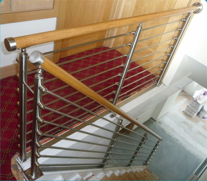 PVC不锈钢楼梯扶手,YD-LTH004