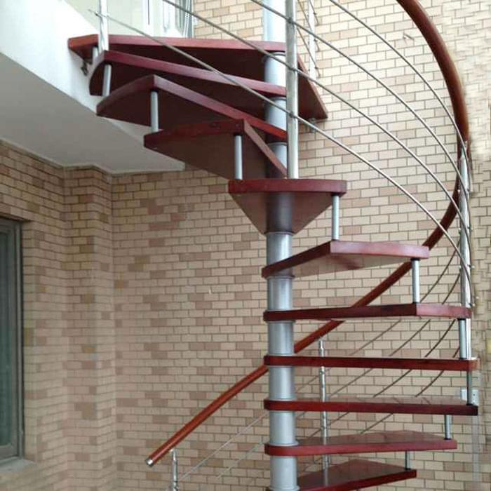 室外钢木旋转楼梯,YD-GMX36