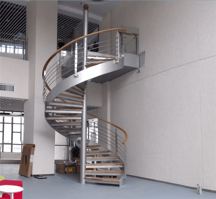 御迪碳钢中柱旋转楼梯