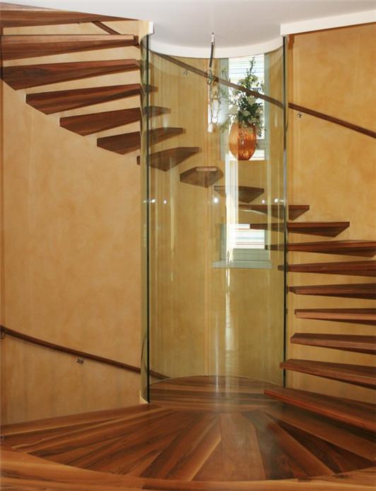 实木悬浮楼梯YD-MF207