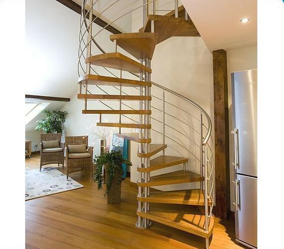 钢木旋转楼梯 YD-GMX31