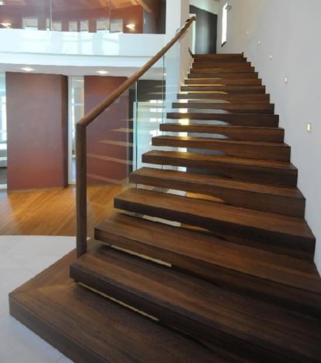实木护栏悬浮梯,YD-MF208