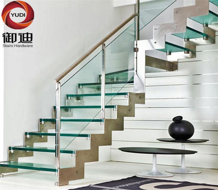 不锈钢直楼梯 ,室内楼梯  品牌:御迪 造型:直线式 类型:无水泥基础架