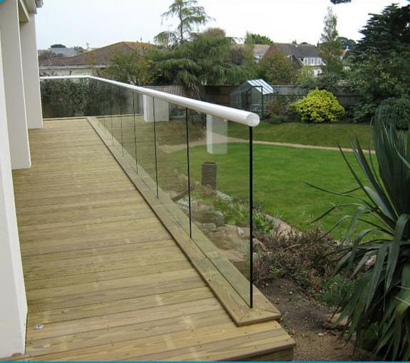 室外无框玻璃护栏,YD-YTHL411