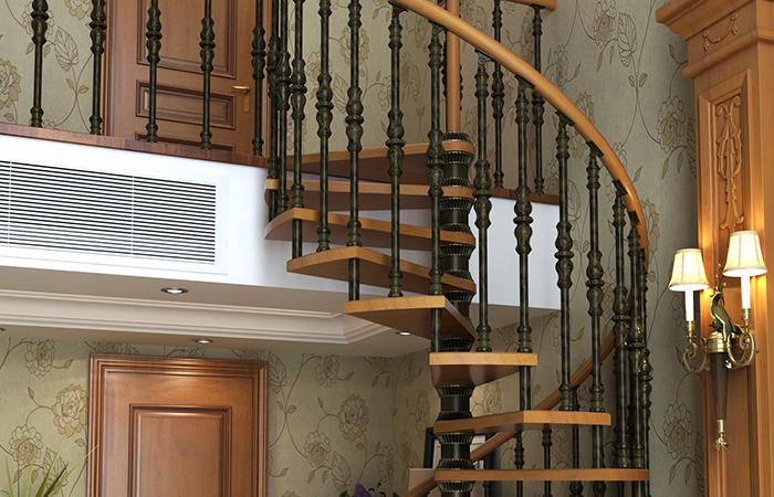 可调节高度楼梯—精美旋转铝合金楼梯