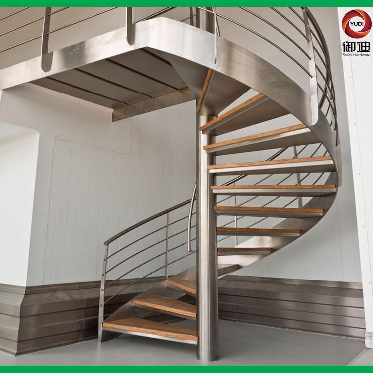 复式楼旋转碳钢楼梯,YD-CX001