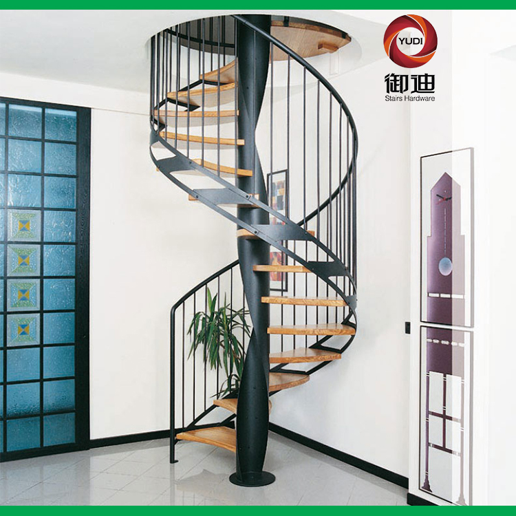 实木踏板旋转楼梯 碳钢旋转楼梯 厂家直销
