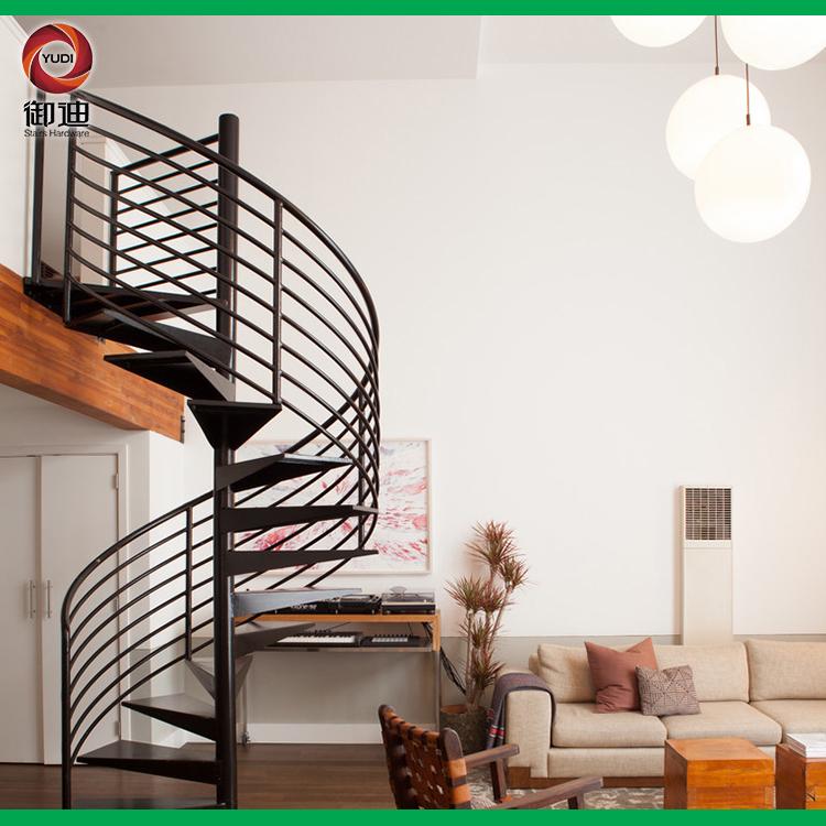 室内碳钢旋转楼梯 复式楼小户型装修用安全爬梯,YD-CX025