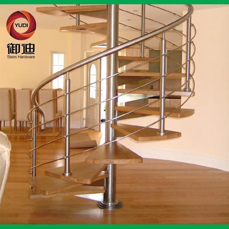 旋转楼梯,室内楼梯,钢木楼梯,YD-GMX045